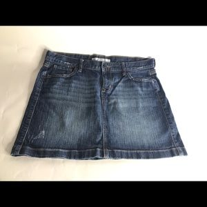 Old Navy Medium Wash Denim Mini-Skirt Women's 14